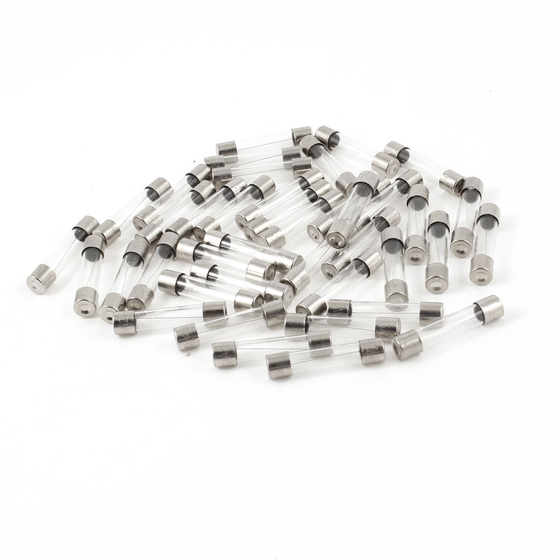 40pcs 6mm x 30mm Low Breaking Fast Blow Glass Tube Fuses 250V 5A