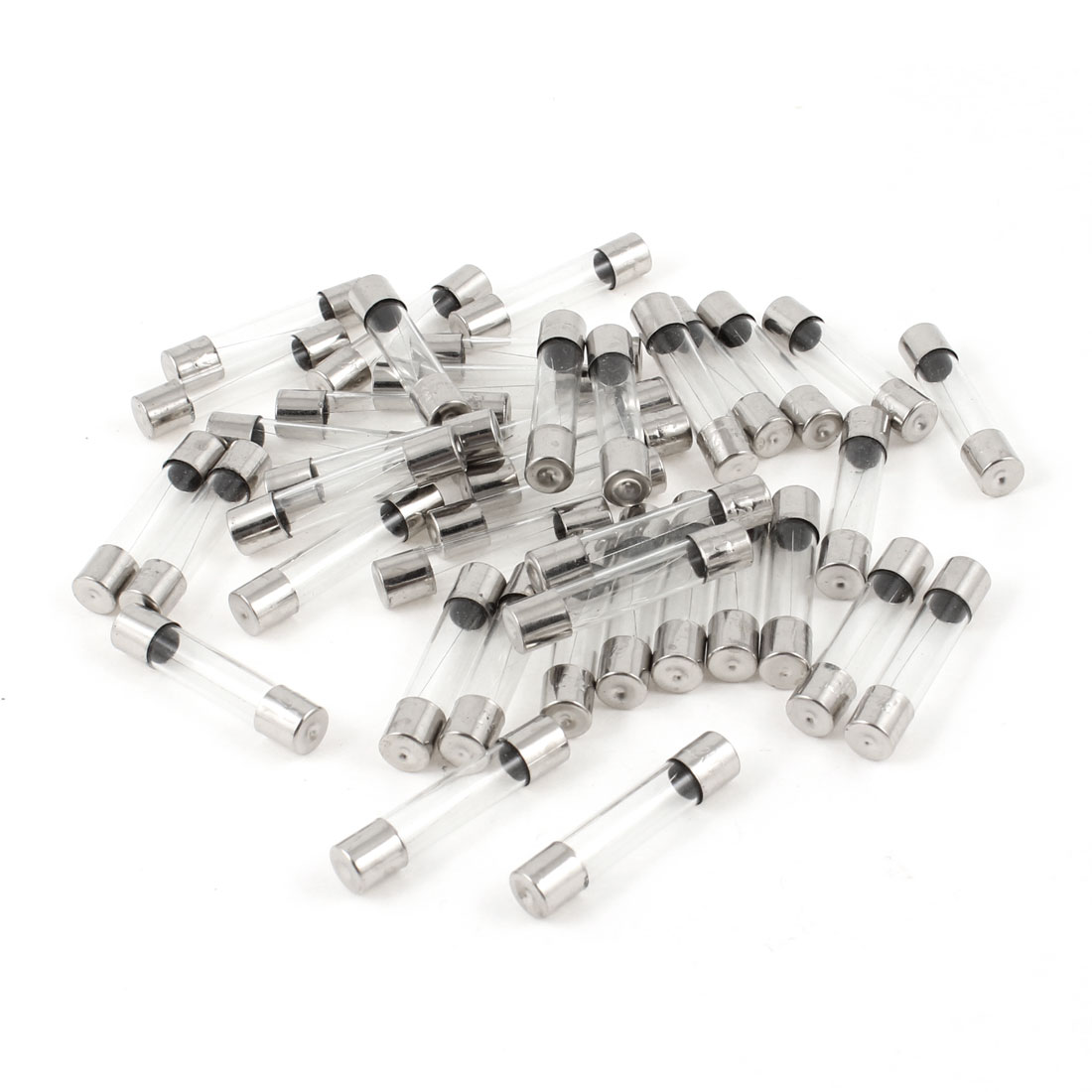 40 Pcs Quick Acting Fast Blow Glass Tube Fuses 250V 2A 6mm x 30mm