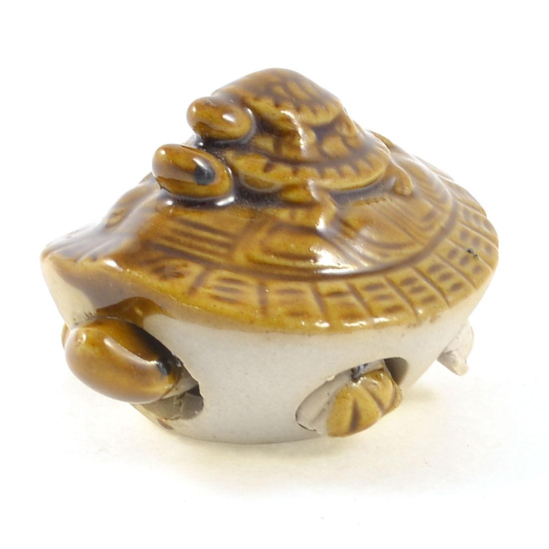 Fish Tank Aquarium Decoration Brown Ceramic Simulation Tortoise Toy