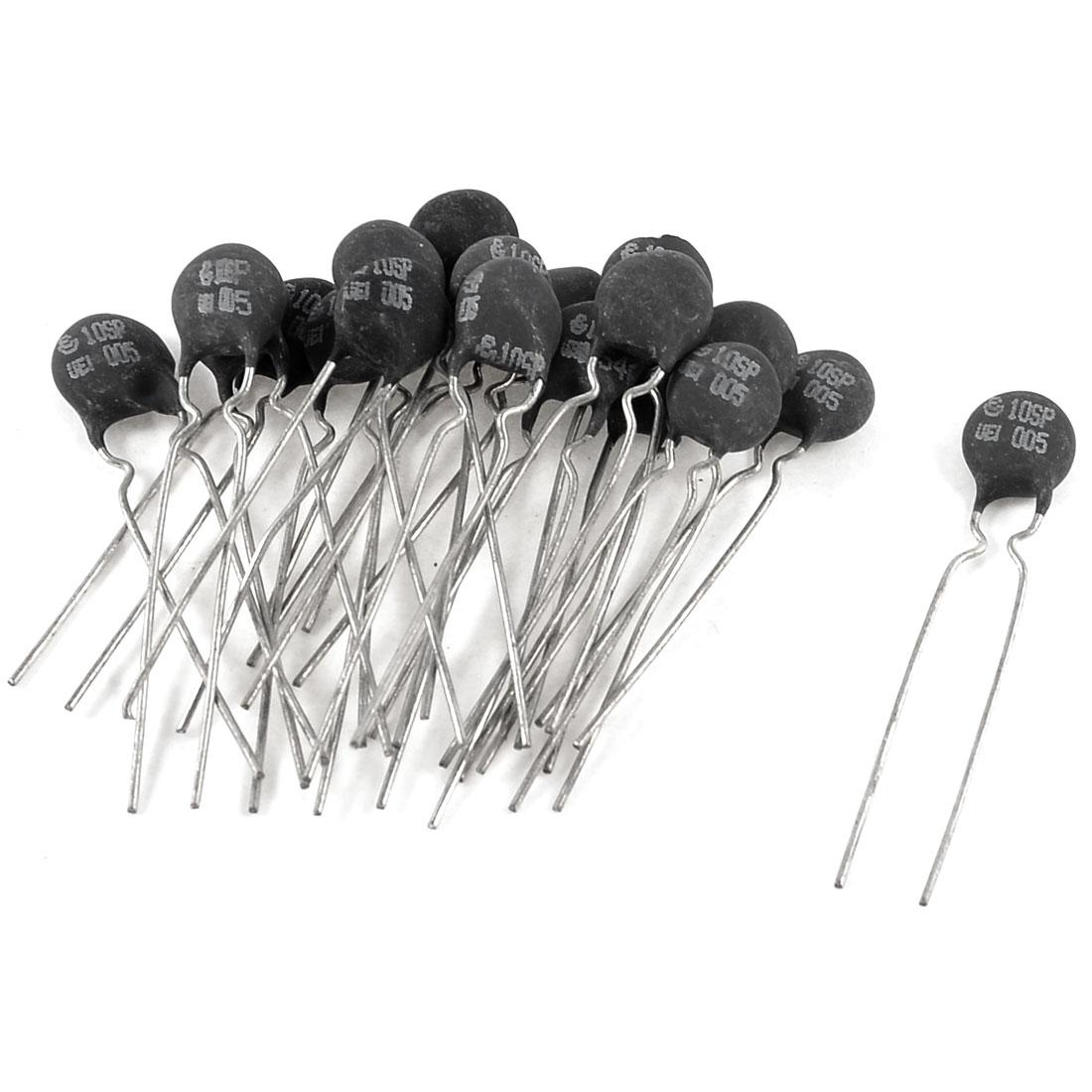 "1.5mm Pitch NTC Thermistors 1.9"" Long Black Silver Tone 5 Ohm 20 Pcs"