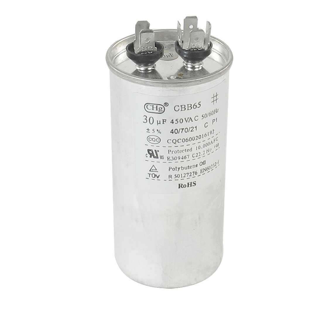 CBB65 AC 450V 30uF Polypropylene Film Motor Run Capacitor for Air Conditioner