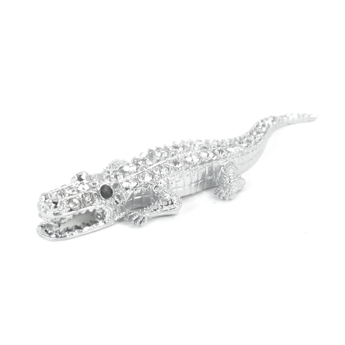 Crocodile Shape Rhinestones Decor Metal Decorative Sticker for Van Car