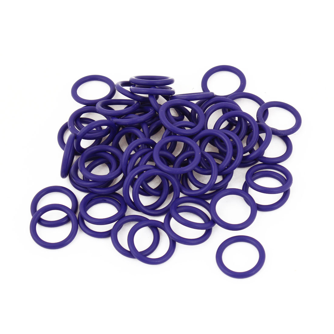 100 Pcs 19 x 15 x 2.5mm HNBR Air Condition O Rings Purple for Auto Car