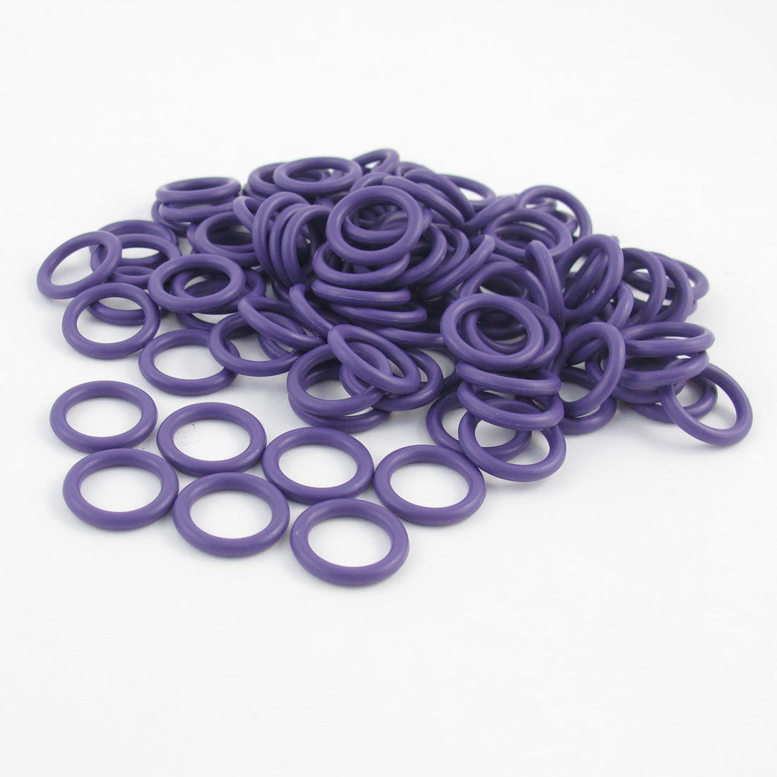 100 Pcs 15.5 x 11.6 x 2.3mm HNBR Air Condition O Rings Purple for Auto Car