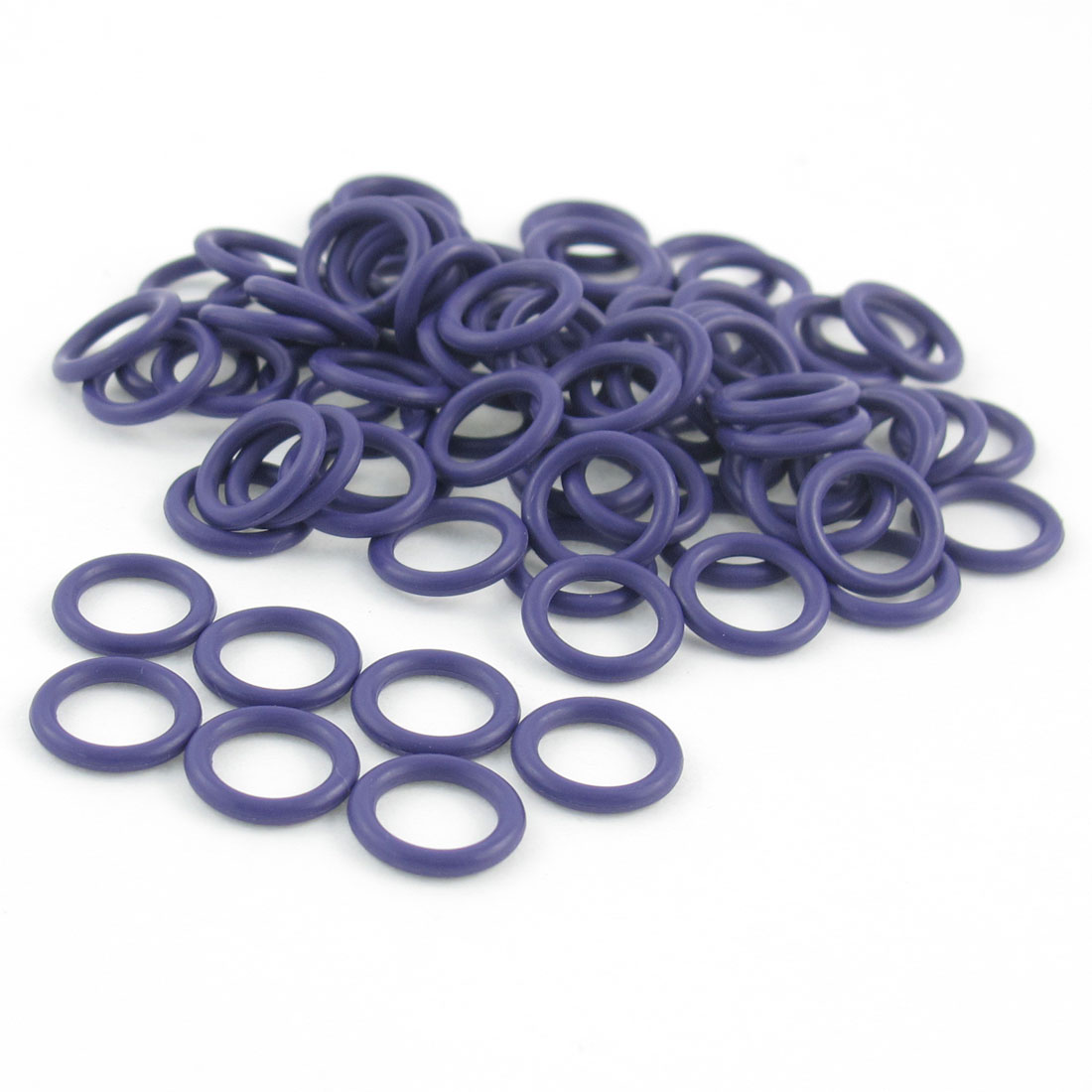 100 Pcs 11 x 8 x 1.7mm HNBR Air Condition O Rings Purple for Auto Car