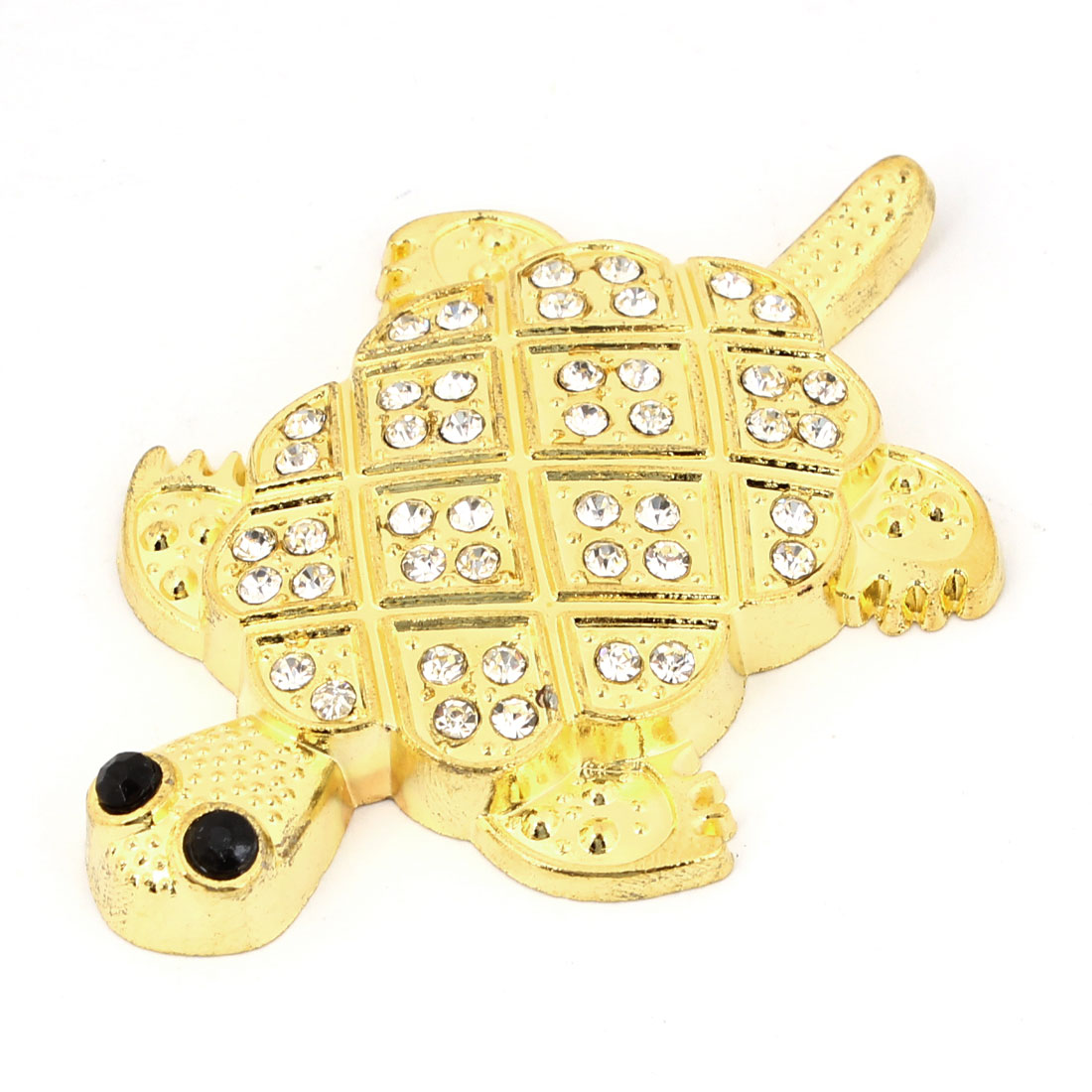 Tortoise Design Rhinestones Decor Metal Ornament 3D Sticker for Van Car