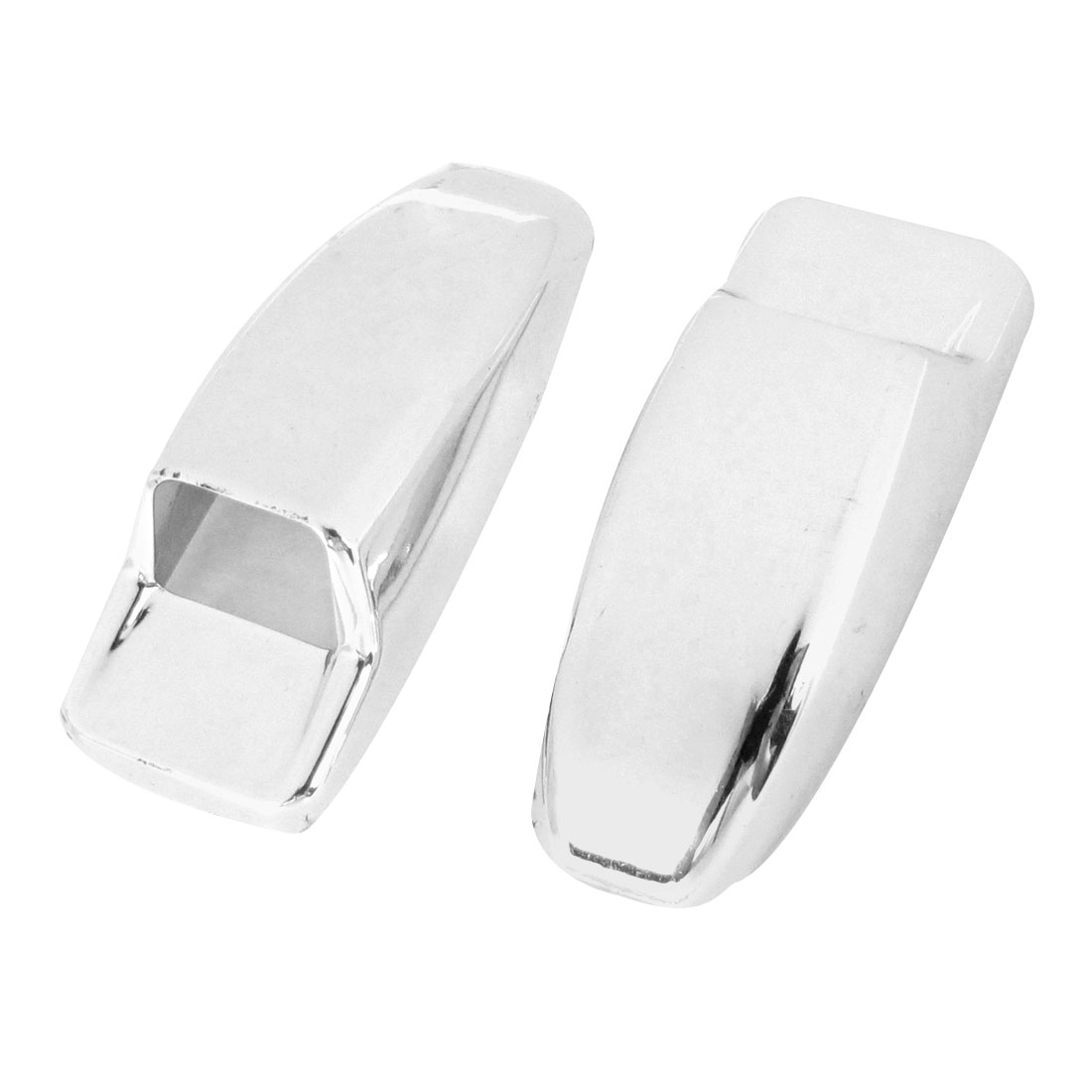 2 Pcs Van Truck Car Windshield Washer Nozzle Cover Silver Tone