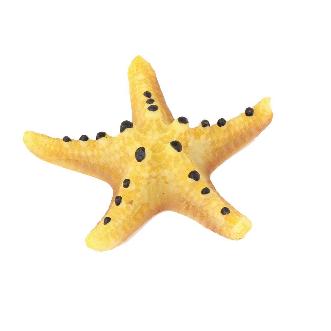 Artificial Glitter Black Dots Ecru Sea Star Shape Ornament