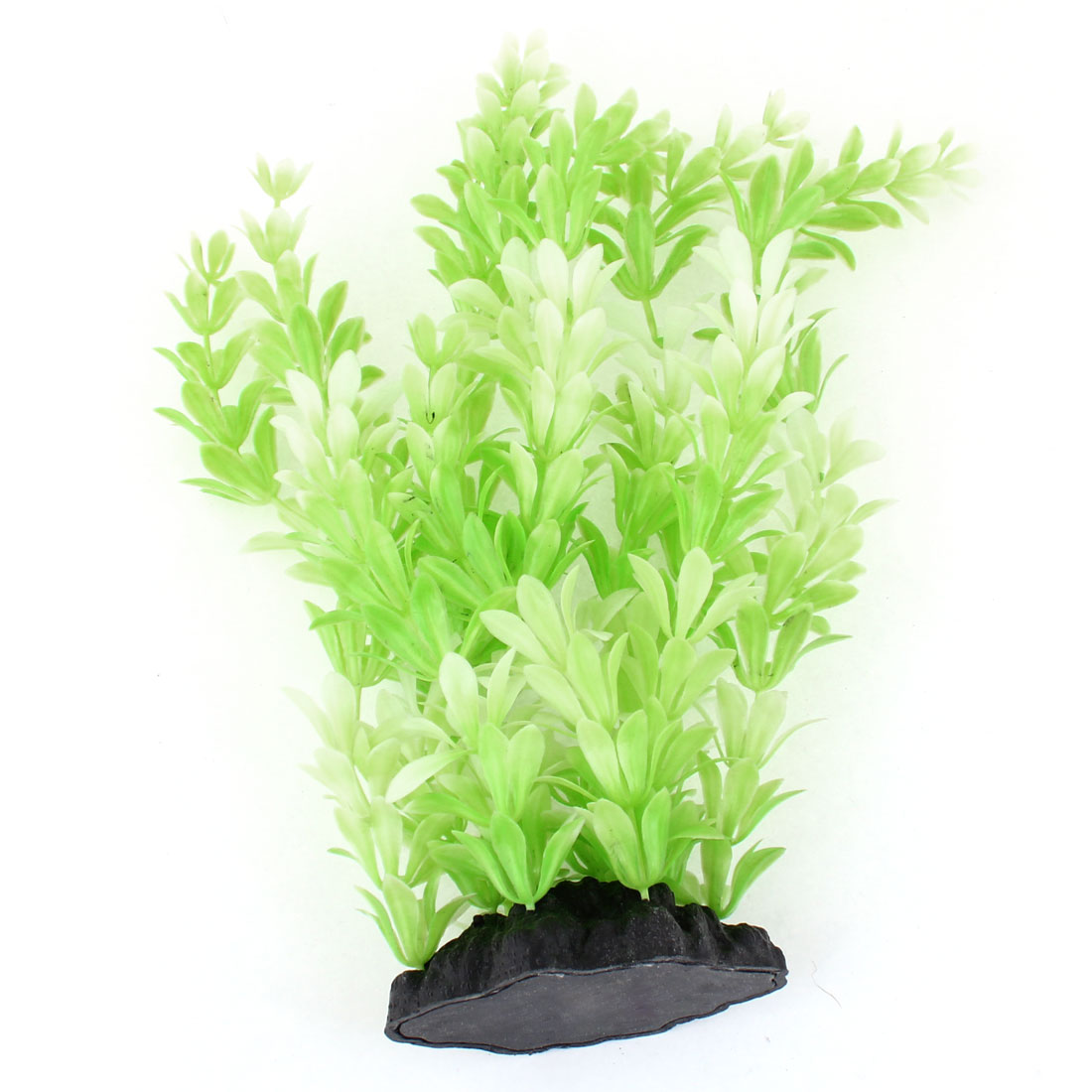 "Light Green Snowflake Shaped Manmade Water Grass 10.2"" Height for Fish Tank"
