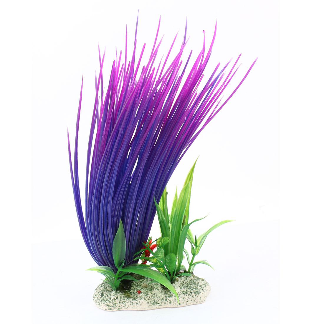 """8.5"""" Height Dark Purple Emulational Underwater Plant Decor for Aquarium"""
