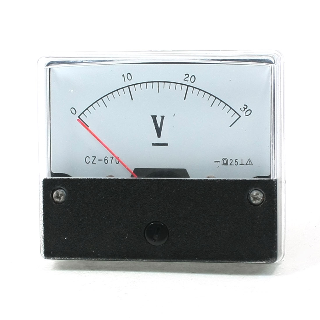 CZ-670 DC 0-30V Analogue Needle Panel Meter Voltmeter