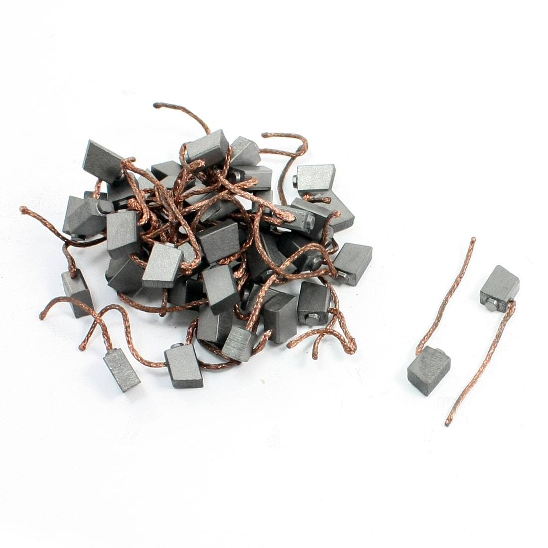 50 Pcs 4.5 x 6.5 x 9mm Copper Motor Carbon Brushes Replacement Parts