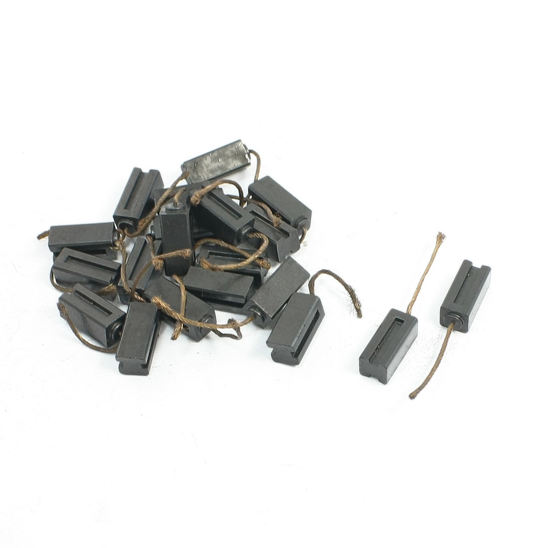 "20 Pcs Power Tool Replacement 1/4"" x 1/4"" x 9/16"" Motor Carbon Brushes"