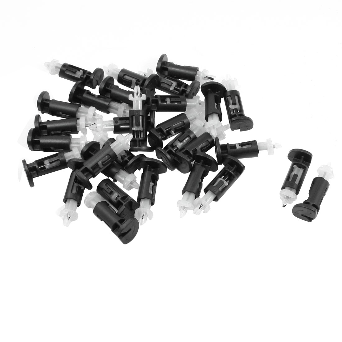 Black White Plastic Mounting Clip for Intel CPU Cooler 30 Pcs