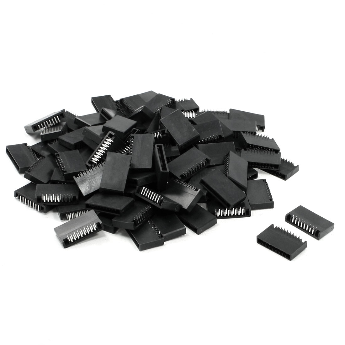 100 Pcs Dual Rows 17 Pins S-17P Right Angle Header for Breadboard