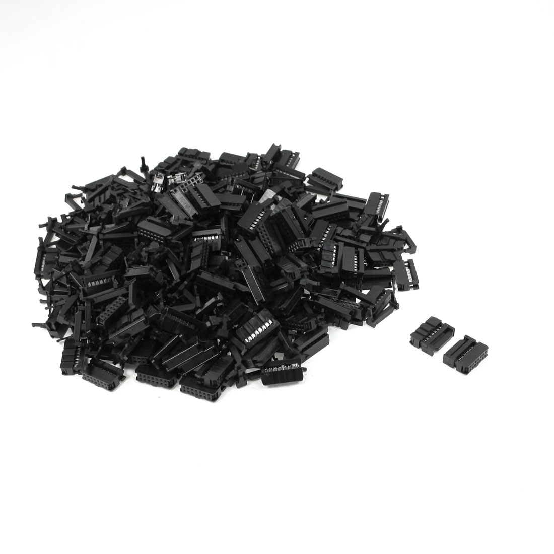 200 Pcs FC-14P 14 Pin Male IDC Socket Plug Ribbon Cable Connector Black