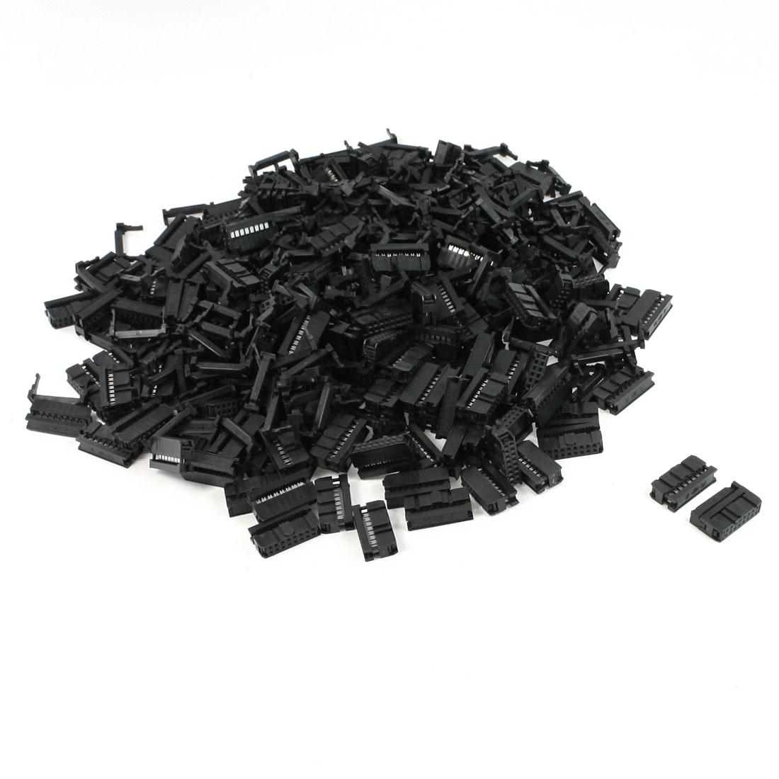 FC-16P 2.2mm Pitch Position Flat Cable IDC Socket Connector Black 200 Pcs