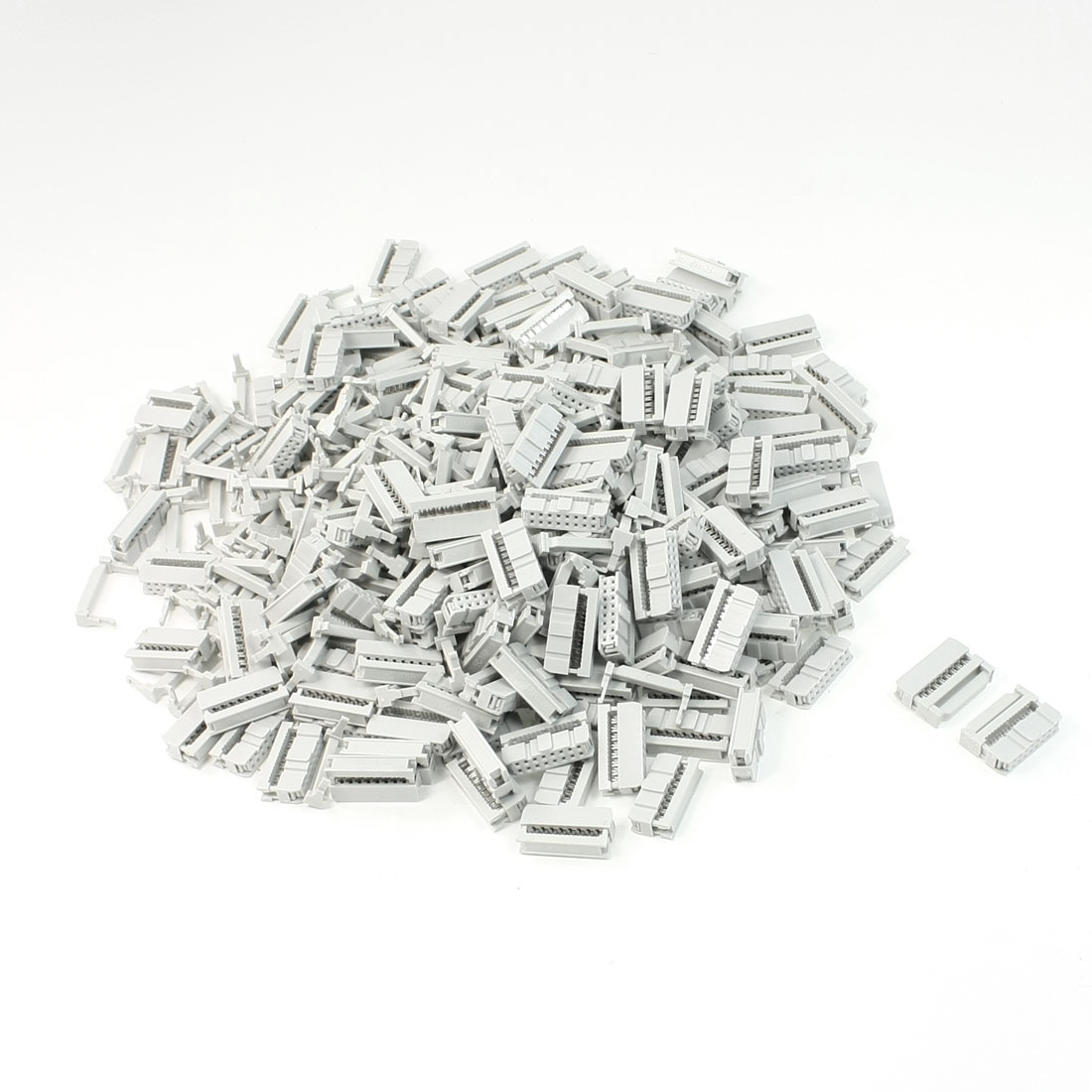 200 Pcs 2 Rows 16 Pin IDC Socket Connector Male Header 2.2mm FC-16P Light Gray