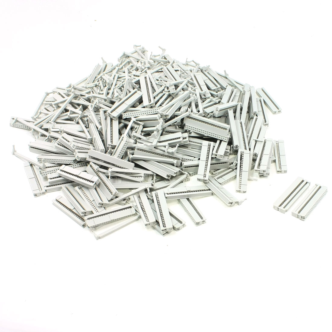 200 Pcs 2 Rows 40 Pin IDC Socket Connector Female Header 2.2mm FC-40P Light Gray