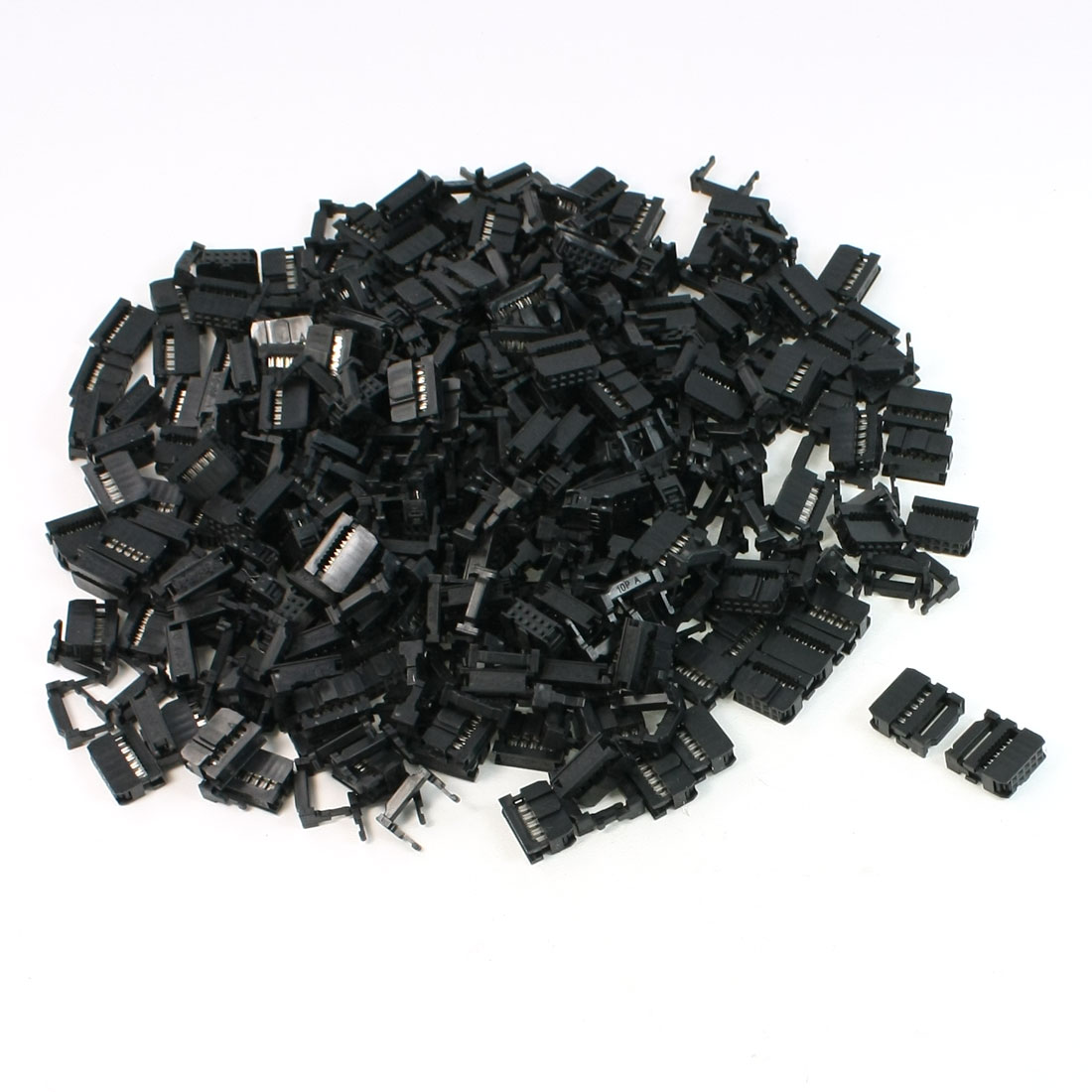 FC-10P 2.54mm Pitch Position Flat Cable IDC Socket Connector Black 200 Pcs