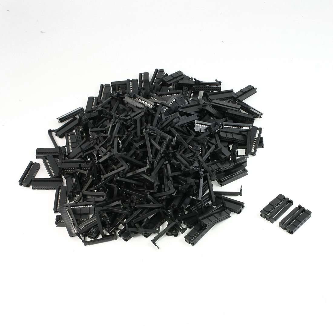 200 Pcs FC1-24P Flat Ribbon Cable 2 Row 24 Pin IDC Socket Connector Black