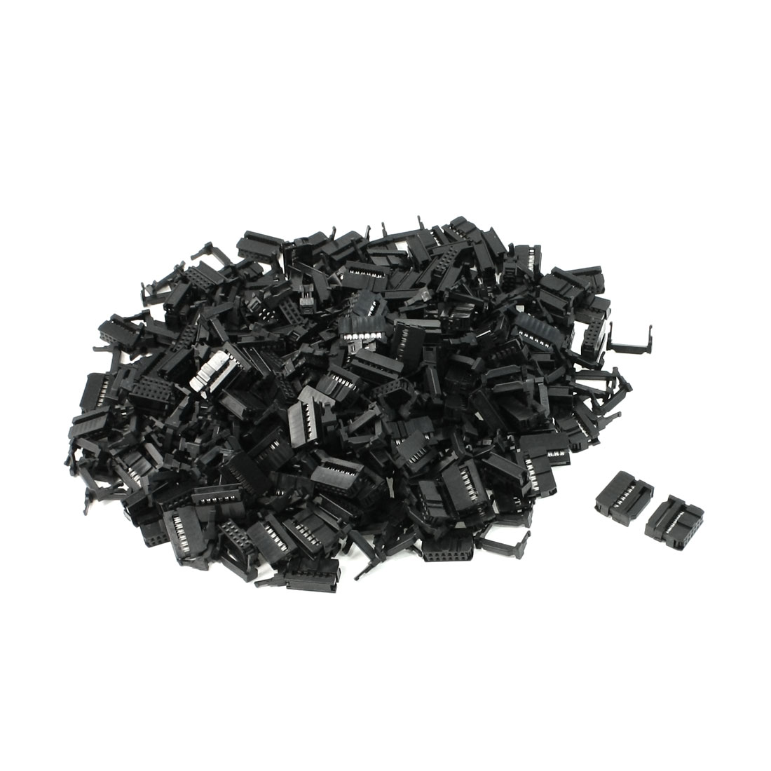 FC-12P 2.2mm Pitch Position Flat Cable IDC Socket Connector Black 200 Pcs