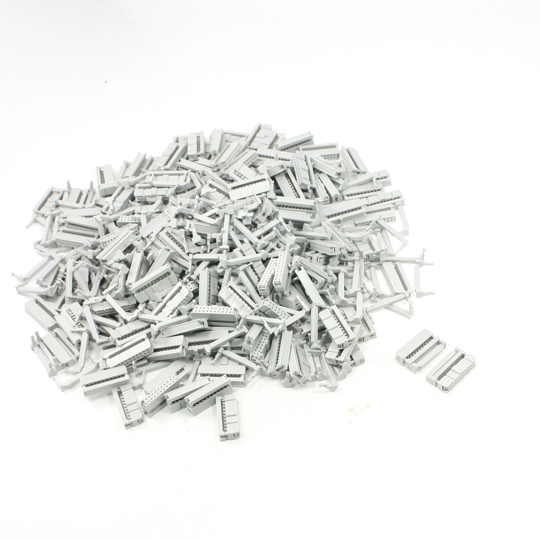 FC-20P 2.2mm Pitch Position Flat Cable IDC Socket Connector Light Gray 200 Pcs
