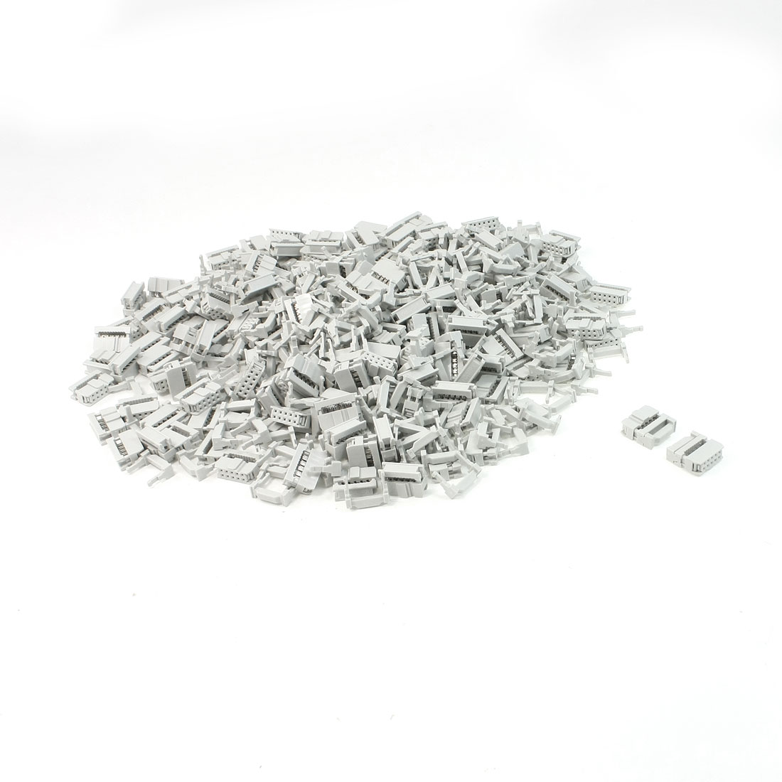 200 Pcs 2 Rows 10 Pin IDC Socket Connector female Header 2.2mm FC-10P Light Gray