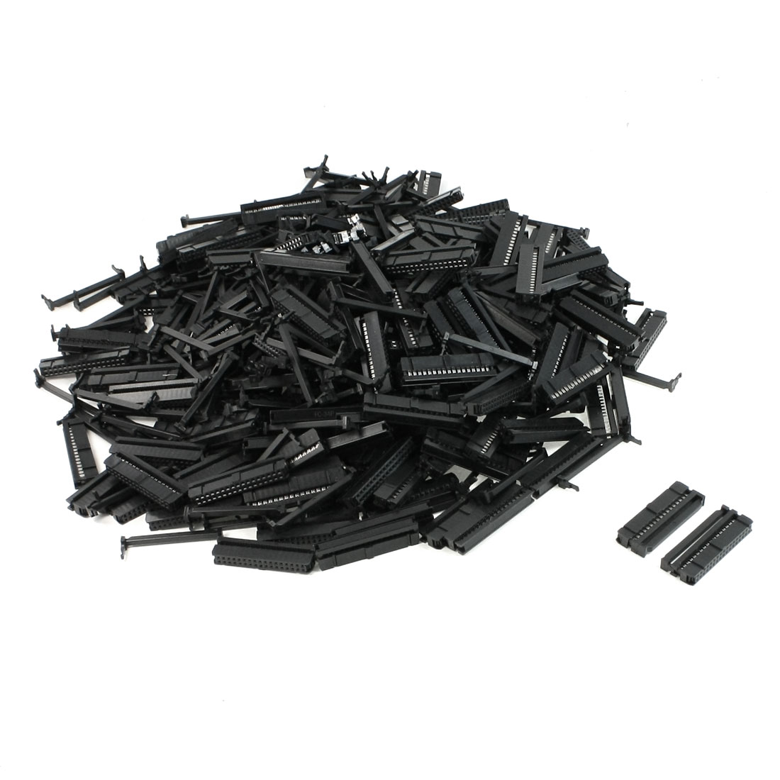 200 Pcs FC1-34P Flat Ribbon Cable 2 Row 34 Pin IDC Socket Connector Black