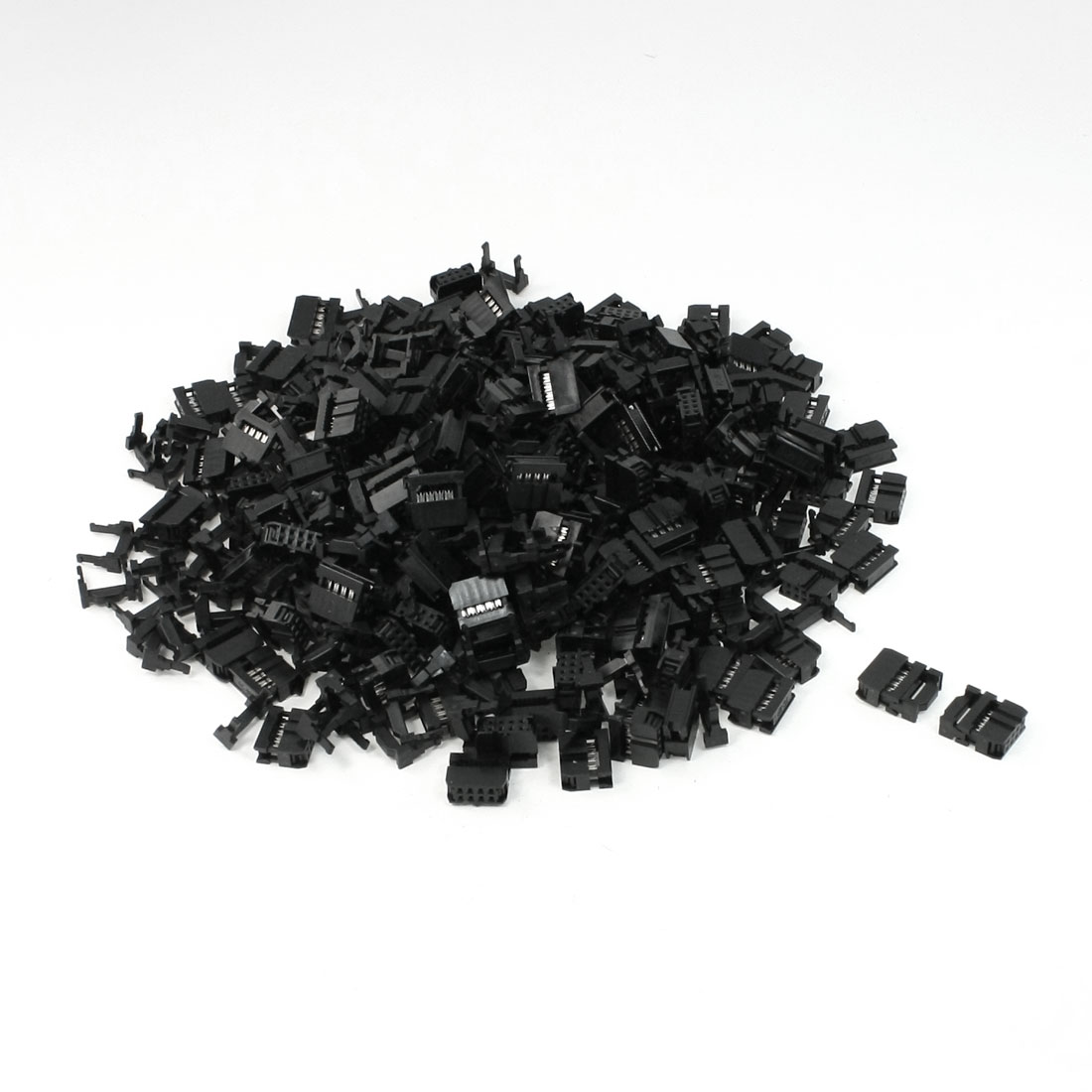 200 Pcs 2 Rows 8 Pin IDC Socket Connector Male Header 2.2mm FC-8P Black