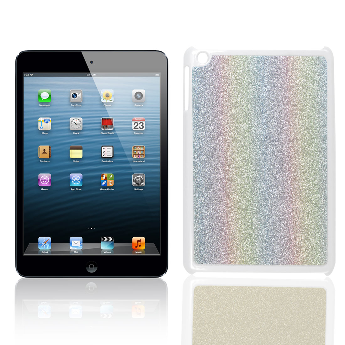 Sparkle Glittery Coated Colorful Hard Back Case Cover for Apple iPad Mini