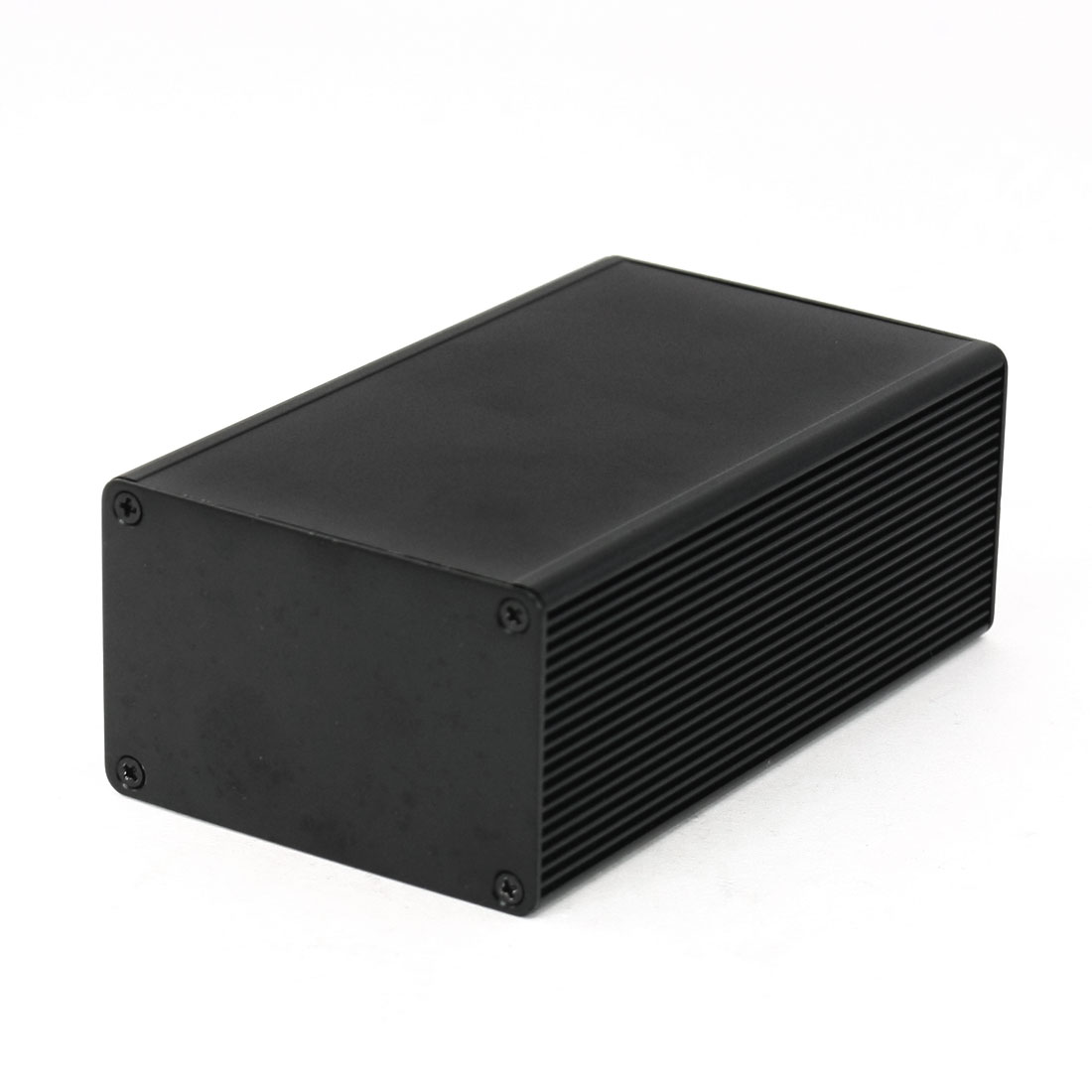 112mm x 66mm x 43mm Aluminum Enclosure Case DIY Junction Box Black