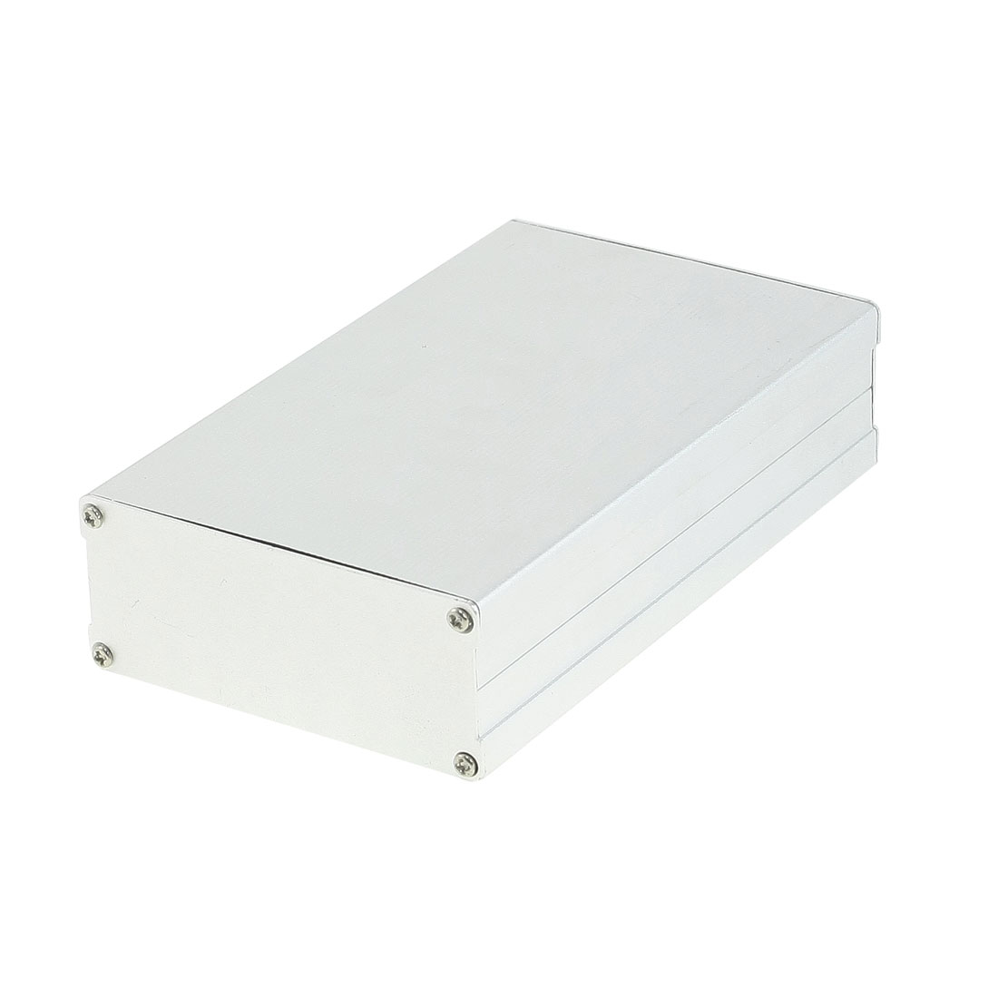 162mm x 97mm x 40mm Aluminum Enclosure Case DIY Junction Box Silver Tone