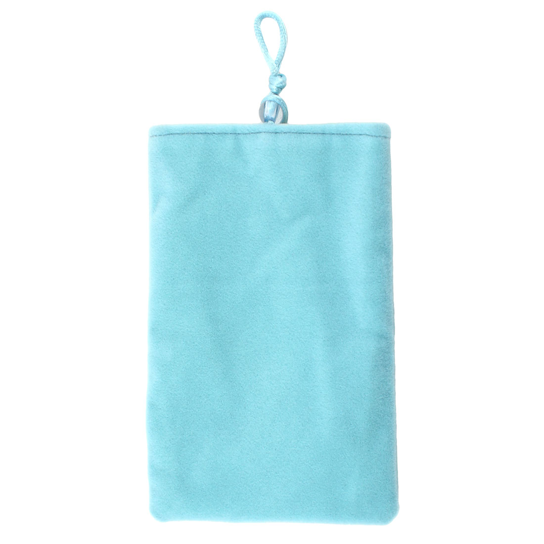 Bead Button Closure Pale Blue Flannel Mobile Phone Pouch Case