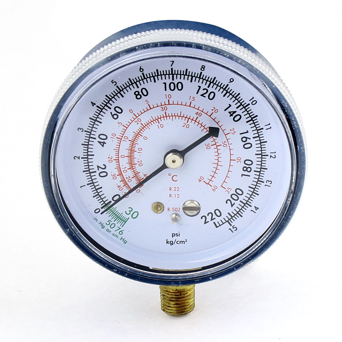 72mm Dia Blue Air Conditioning Low Pressure Gauge Meter for Car