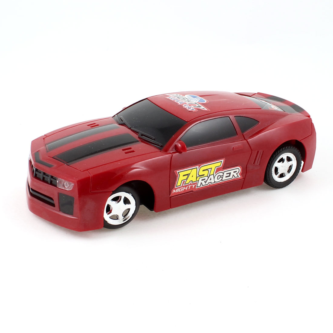 Red Battery Power Supply Sound Activated R/C Running Car Toy for Kids