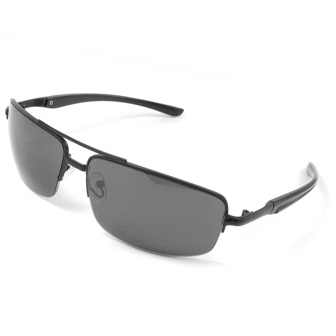 Black Metal Half Rim Nose Pad Colored Shaped Lens Sunglasses for Man