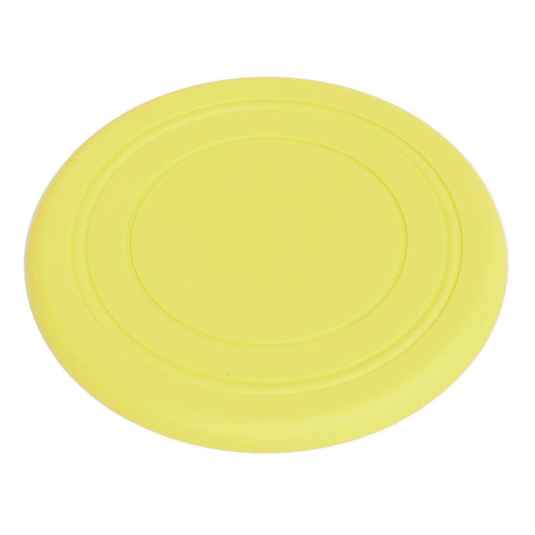 "Yellow Round Silicone 6.9"" Dia Exercising Flying Frisbee Toy for Pet Doggie"