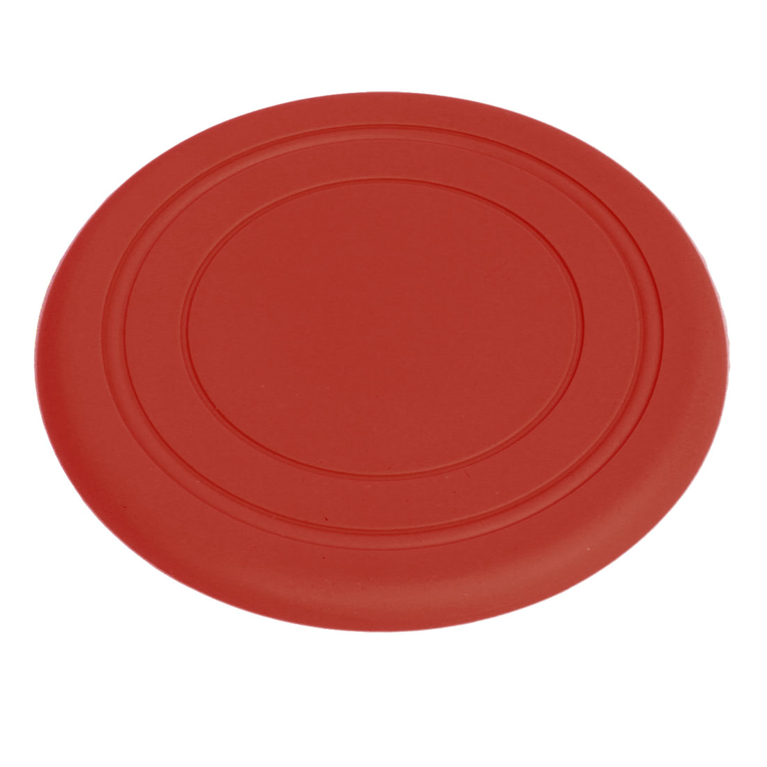 Silicone Flying Disc Frisbee Game Toy Red 6.9 Inch Diameter for Pet Doggie