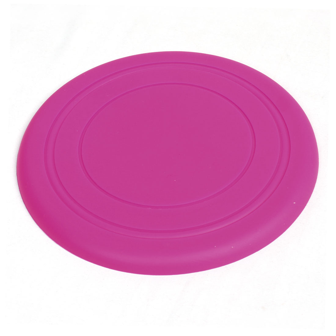 "Pet Dog Training Fuchsia Silicone Flyer Disc Frisbee Toy 6.9"" Diameter"