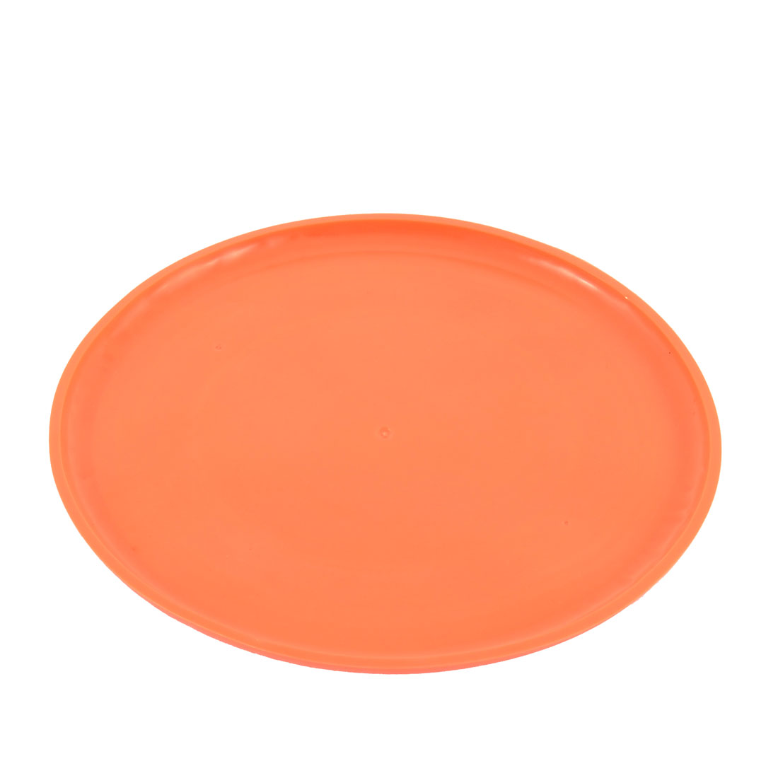 "Orange Round Silicone 6.9"" Dia Exercising Flying Frisbee Toy for Pet Doggie"