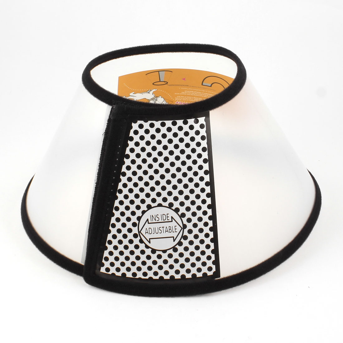 Black Clear Detachable Fastener Circle Collar Pet Wound Healing Head Cover