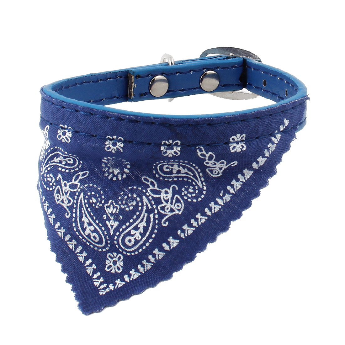 One Pin Buckle Triangular Scarf 5 Hole Belt Cat Dog Pet Neck Collar Blue