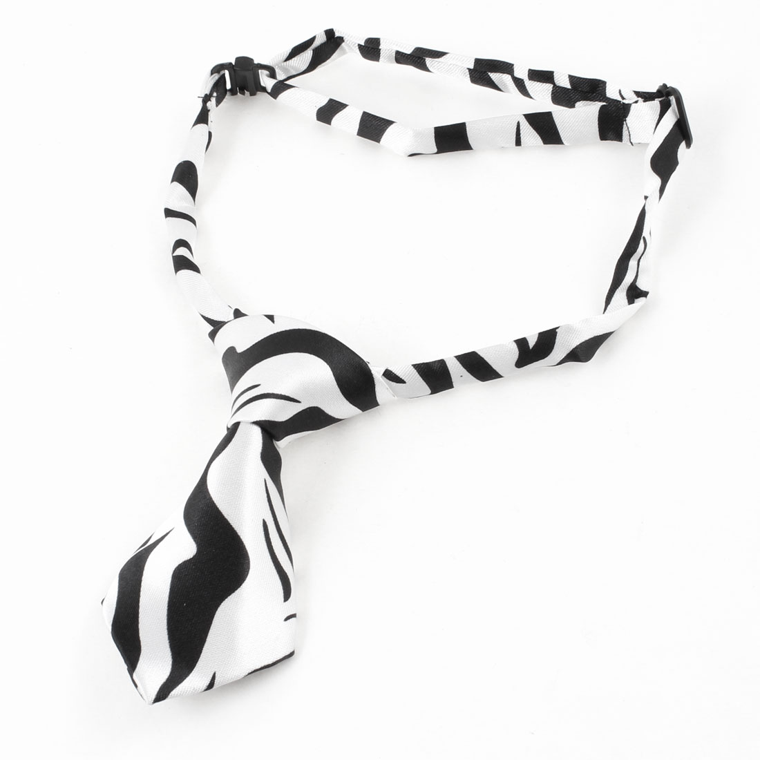 Black White Pre Tie Adjustable Doggie Pup Dog Cat Pet Necktie