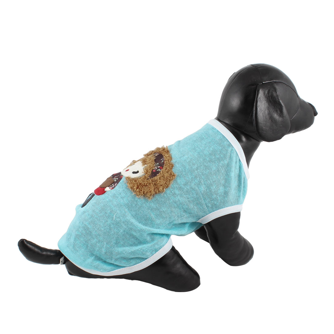 Girl Pattern Dog Chihuaha Summer Tee Shirt Pet Puppy Clothes Blue Black XXS