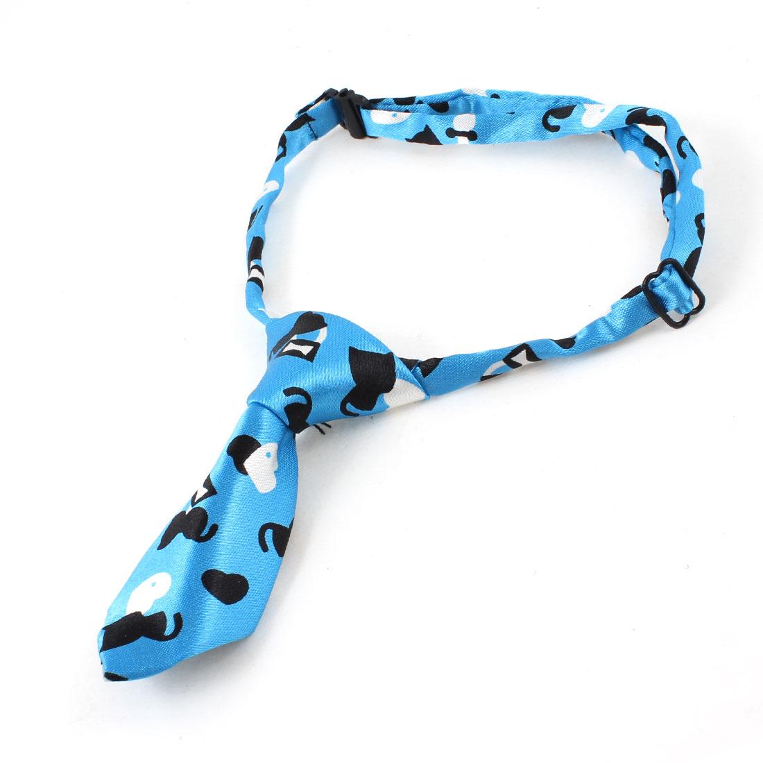 Cat Heart Print Blue Adjustable Cat Pet Adorable Grooming Tie Necktie
