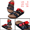 Men Natural Cork Footbed Red Navy Blue New Sandals US 6