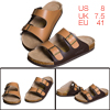 Men Natural Cork Footbed Casual Sandals Light Coffee Brown US 8