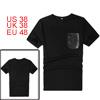 Men NEW Black Short Sleeve One Chest Pocket Detail Slim Shirt M