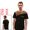 Men Black Decorative Chest Pocket Short Sleeve Slim Tee Shirt M